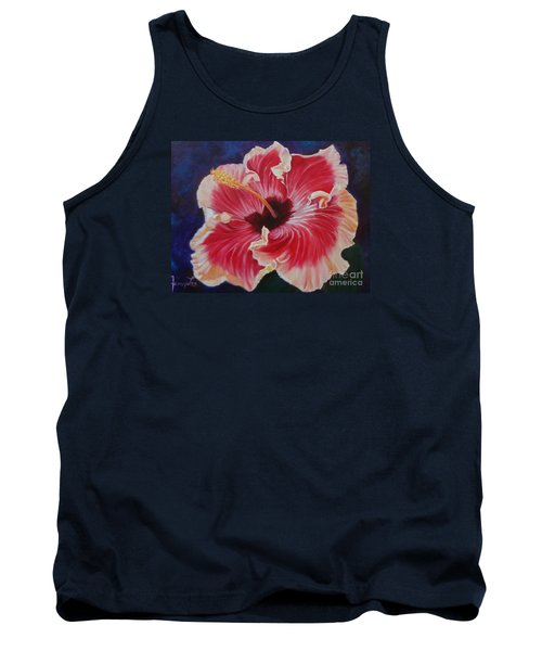 Tank Top featuring the painting Hibiscus by Jenny Lee