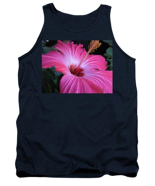 Hibiscus Photograph Tank Top