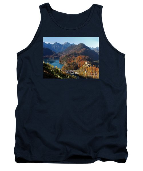 Hohenschwangau Castle And Alpsee In Bavaria Tank Top