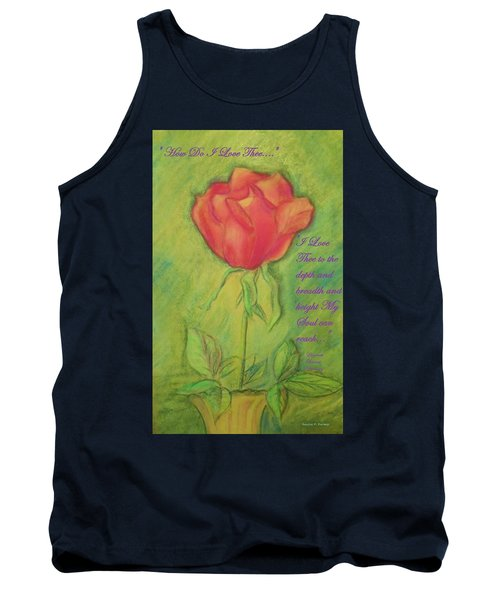 Tank Top featuring the drawing How Do I Love Thee ? by Denise Fulmer
