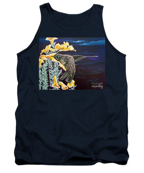 Tank Top featuring the painting Hummingbird On A Stormy Day by Sigrid Tune