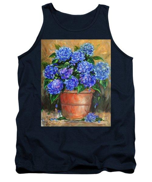 Hydrangeas In Pot Tank Top by Jennifer Beaudet