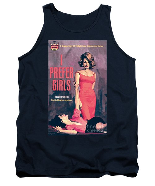 Tank Top featuring the painting I Prefer Girls by Robert Maguire
