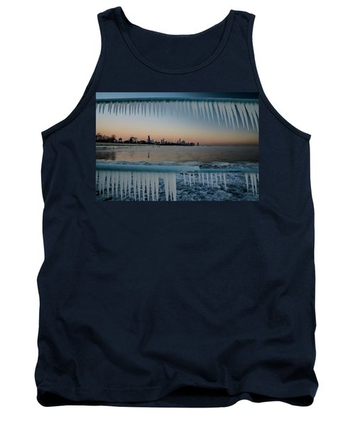 Icicles And Chicago Skyline Tank Top