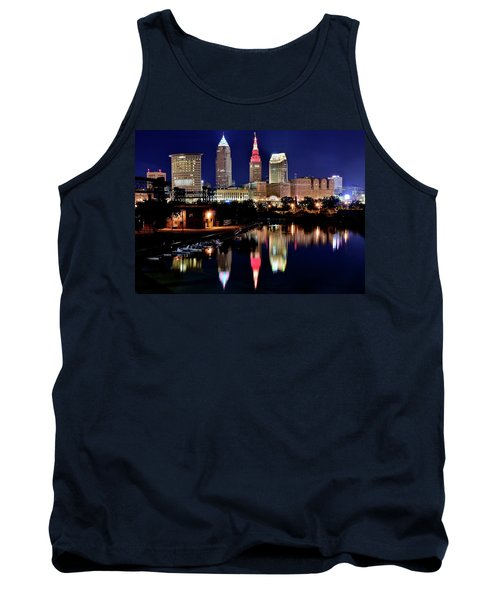 Iconic Night View Of Cleveland Tank Top