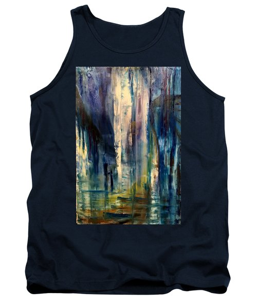 Icy Cavern Abstract Tank Top