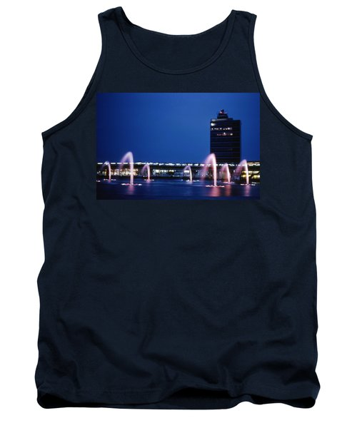Tank Top featuring the photograph Idlewild Fountain And Tower by John Schneider