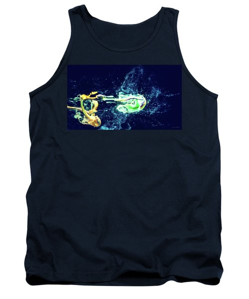 Impact - Pouring Photography Abstract Tank Top