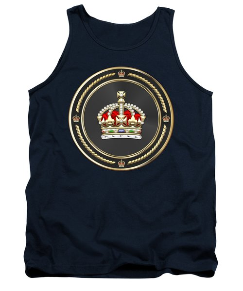 Imperial Tudor Crown Over Blue Velvet Tank Top