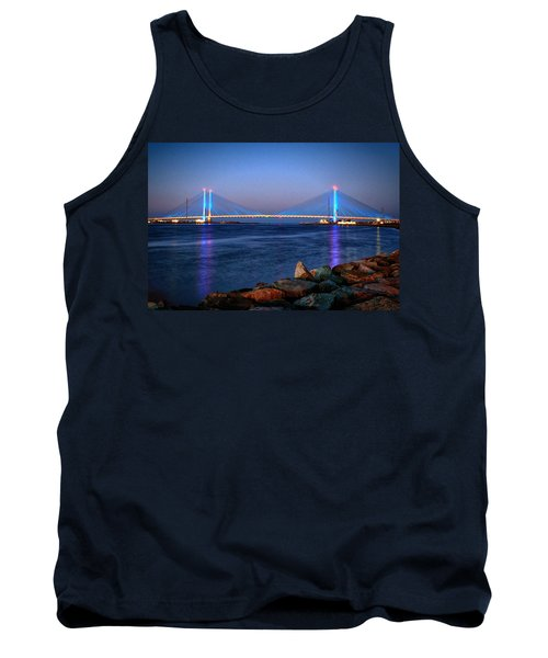 Indian River Inlet Bridge Twilight Tank Top