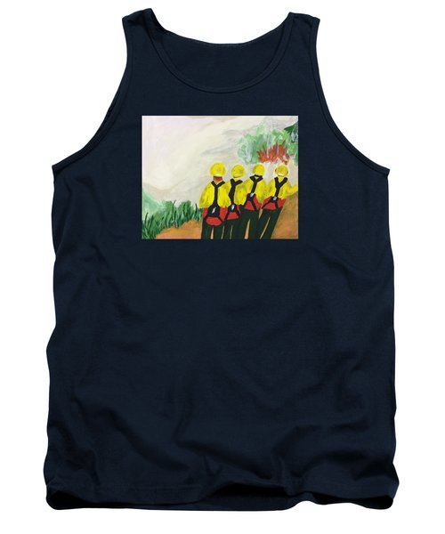 Tank Top featuring the painting Initial Attack by Erika Chamberlin