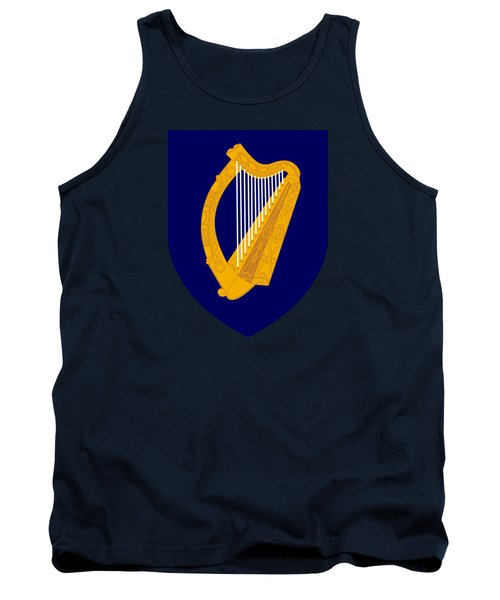 Tank Top featuring the drawing Ireland Coat Of Arms by Movie Poster Prints