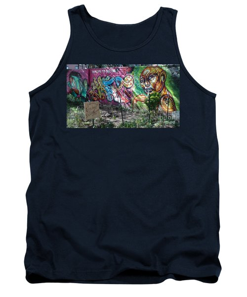 Tank Top featuring the photograph Isham Park Graffiti  by Cole Thompson