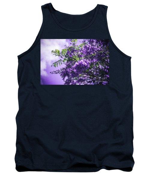 Tank Top featuring the photograph Jacaranda Mimosifolia Kula Maui Hawaii by Sharon Mau
