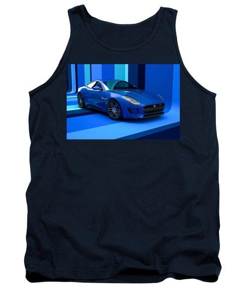 Jaguar F-type - Blue Retro Tank Top