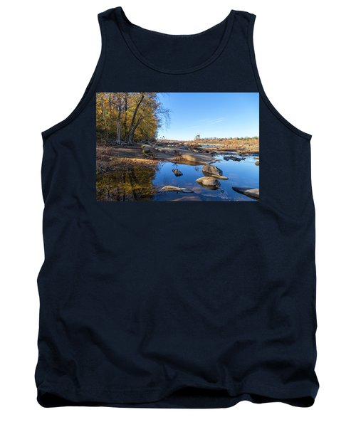 Tank Top featuring the photograph James River Fall by Alan Raasch
