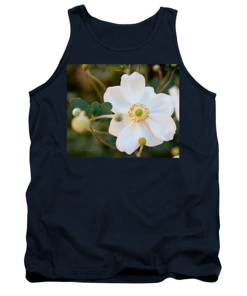Tank Top featuring the photograph Japanese Anemone by Terri Harper