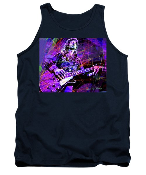 Jimmy Page Solos Tank Top by David Lloyd Glover