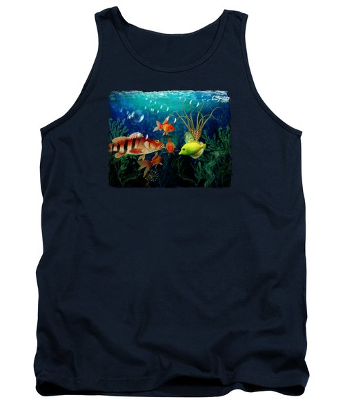 Joy To The Fishes  Tank Top by Terry Fleckney