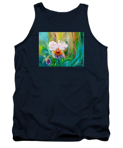 Jungle Orchid Tank Top by Jenny Lee