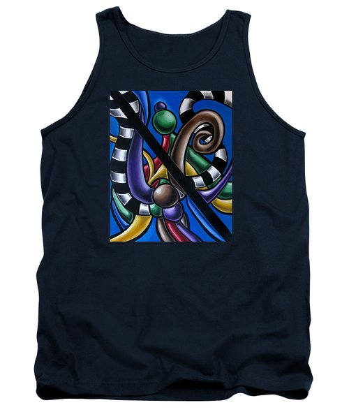Original Colorful Abstract Art Painting - Multicolored Chromatic Artwork Tank Top