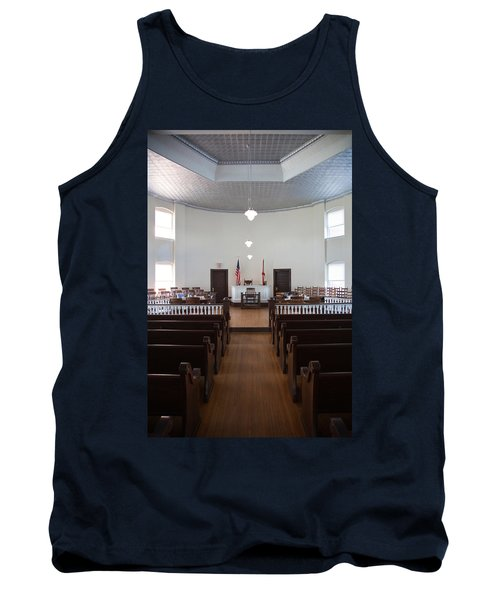 Jury Box In A Courthouse, Old Tank Top by Panoramic Images