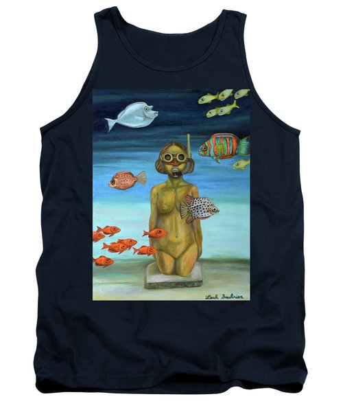 Tank Top featuring the painting Just Breathe by Leah Saulnier The Painting Maniac