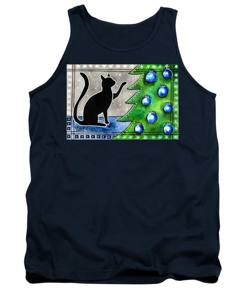 Just Counting Balls - Christmas Cat Tank Top