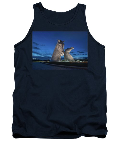 Tank Top featuring the photograph Kelpies  by Terry Cosgrave