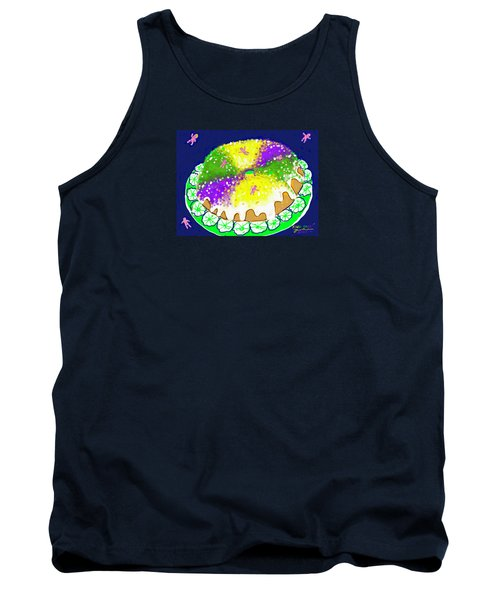Tank Top featuring the digital art King Cake by Jean Pacheco Ravinski
