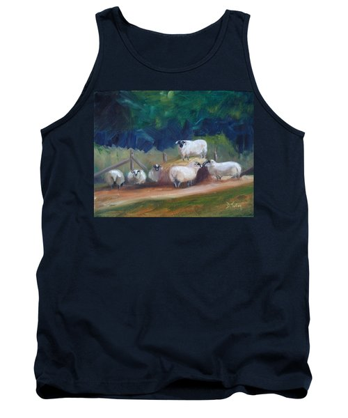 Tank Top featuring the painting King Of Green Hill Farm by Donna Tuten