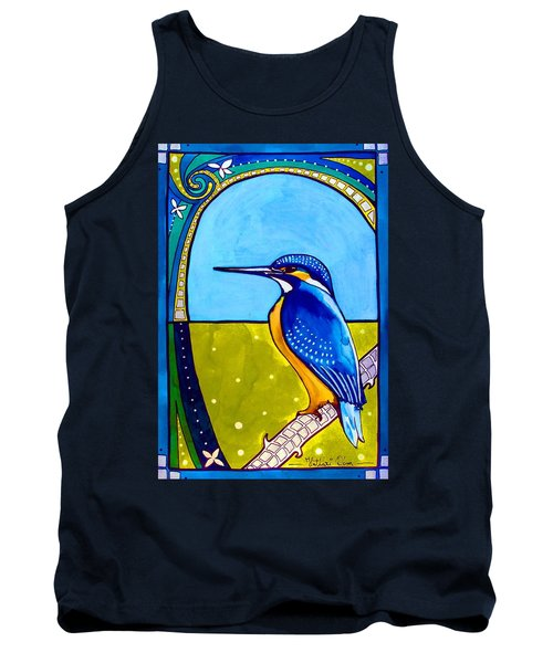 Tank Top featuring the painting Kingfisher by Dora Hathazi Mendes