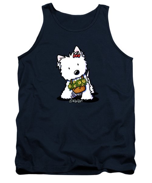 Kiniart Flower Basket Westie Tank Top