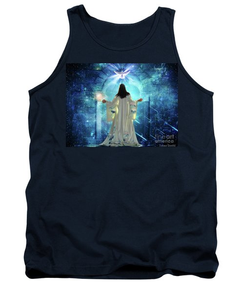 Tank Top featuring the digital art Knocking On Heavens Door by Dolores Develde