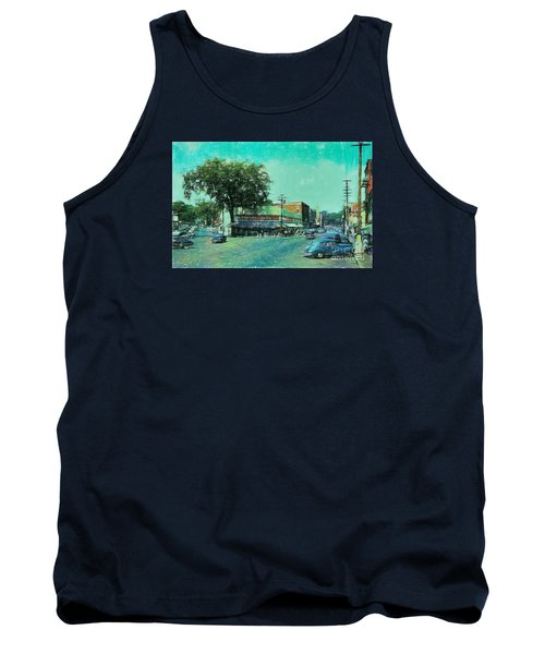 Tank Top featuring the photograph Laconia N H Colored Pencil by Mim White