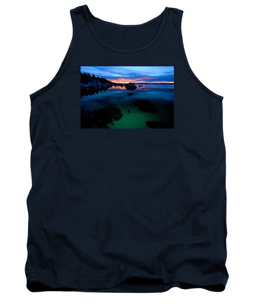 Lake Tahoe Clarity At Sundown Tank Top