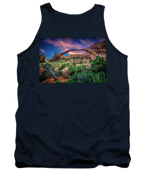 Landscape Arch At Sunset Tank Top