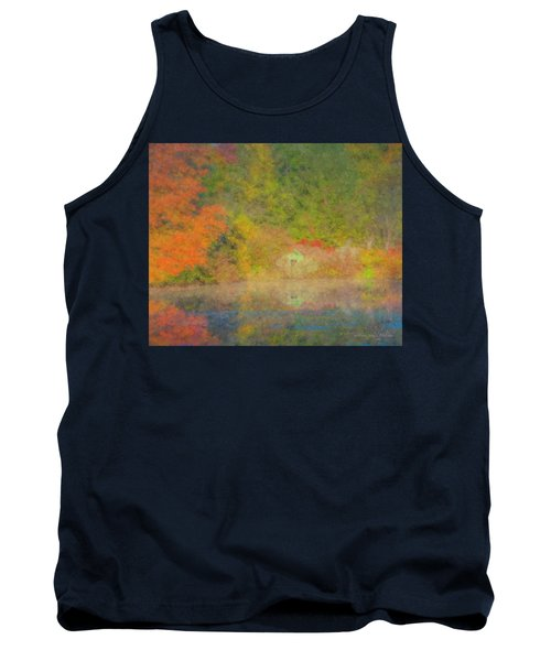 Langwater Pond Boathouse October 2015 Tank Top