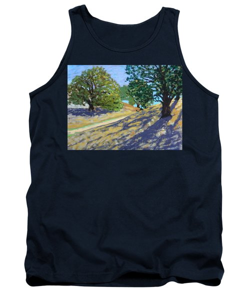 Tank Top featuring the painting Late Light's Shadows by Gary Coleman