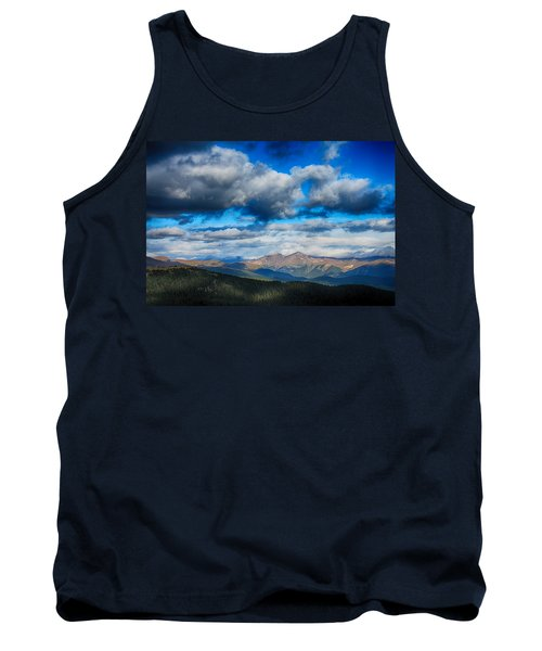 Layers Of Clouds On Mount Evans Tank Top