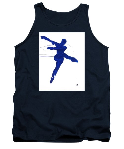 Leap Brush Blue 1 Tank Top