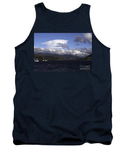 Lenticular Cloud Passing Across The Summit Of Beinn Dearg From Ullapool On Loch Broom Scotland Tank Top