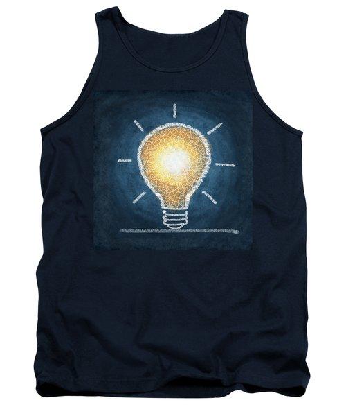 Light Bulb Design Tank Top