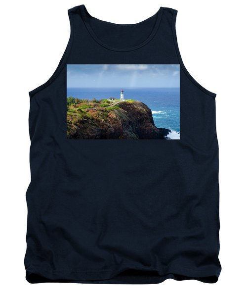 Lighthouse On A Cliff Tank Top