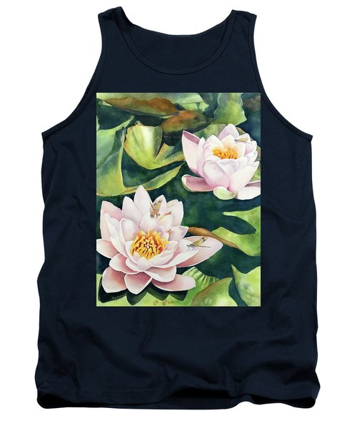 Lilies And Dragonflies Tank Top