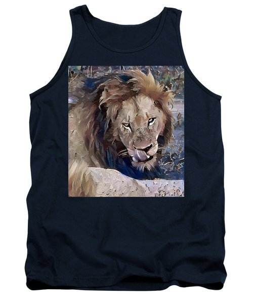 Lion With Tongue Tank Top