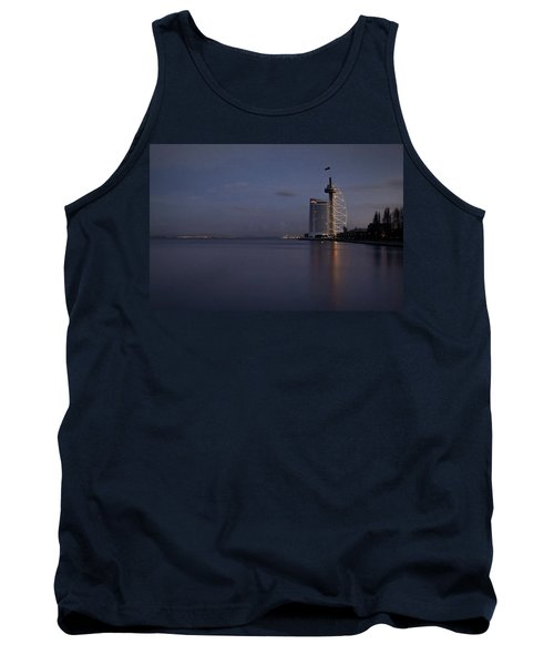 Lisbon Night Scene Tank Top