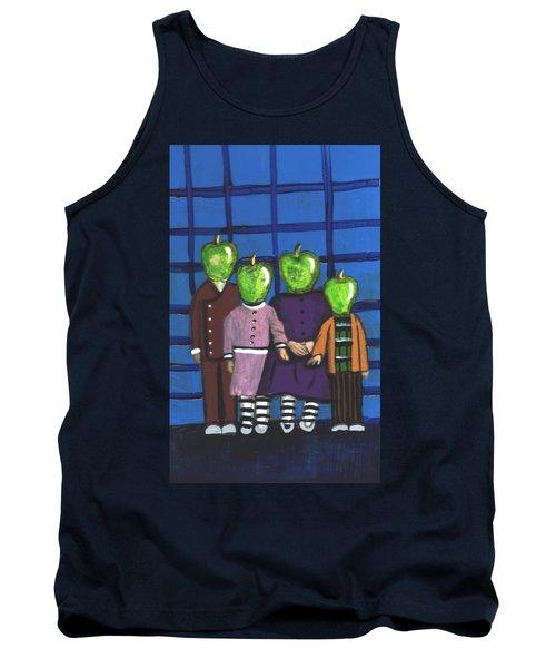 Little Green Apple Head Kids Tank Top
