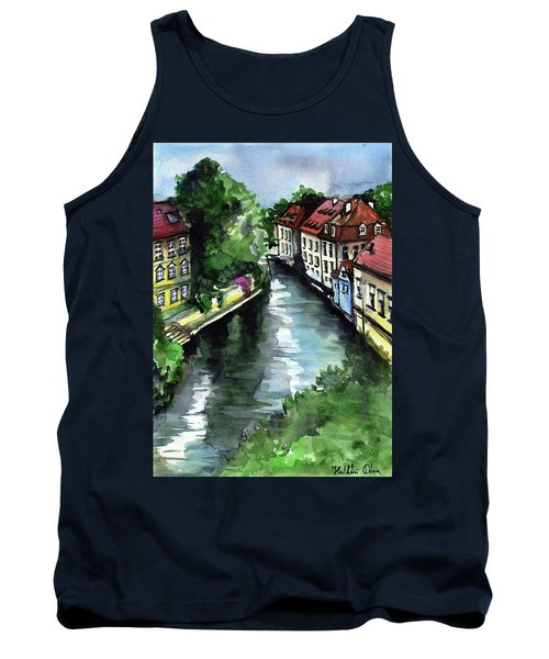 Little Venice In Prague Certovka Canal Tank Top