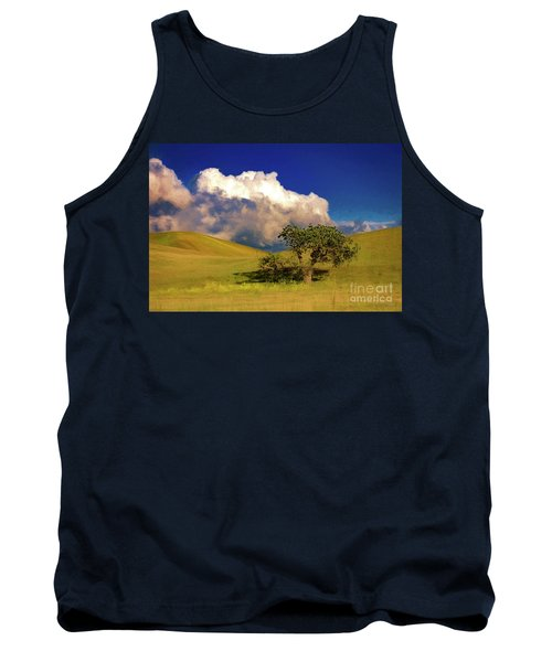 Tank Top featuring the photograph Lone Tree With Storm Clouds by John A Rodriguez